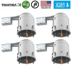 4 PACK 6-INCH REMODEL CAN AIR TIGHT IC UL RECESSED HOUSING L