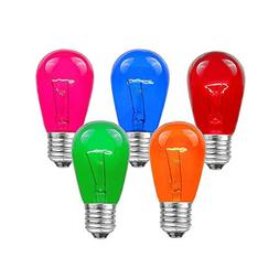 Novelty Lights 25 Pack S14 Outdoor Patio Edison Replacement