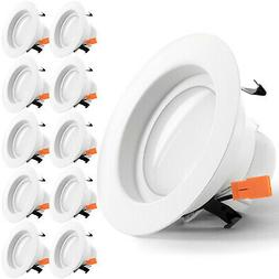 SUNCO 10PACK 4-INCH RETROFIT RECESSED LED LIGHT DIMMABLE 11W