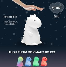 Globe Electric Tommy Dinosaur White Silicone LED Multi Color