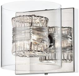 """Possini Euro Design Wrapped Wire 5"""" High 1-Light Wall Sconce"""