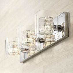 wrapped wire wide bathroom light